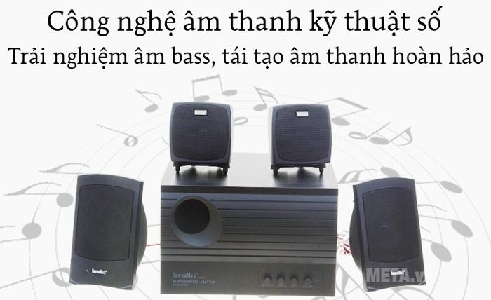 Loa SoundMax A4000 4.1 độ vang Bass, Treble siêu đã