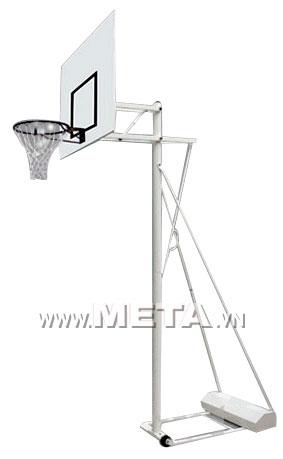 Trụ bóng rổ đổ cát 801825 dễ dàng di chuyển nhờ bánh xe