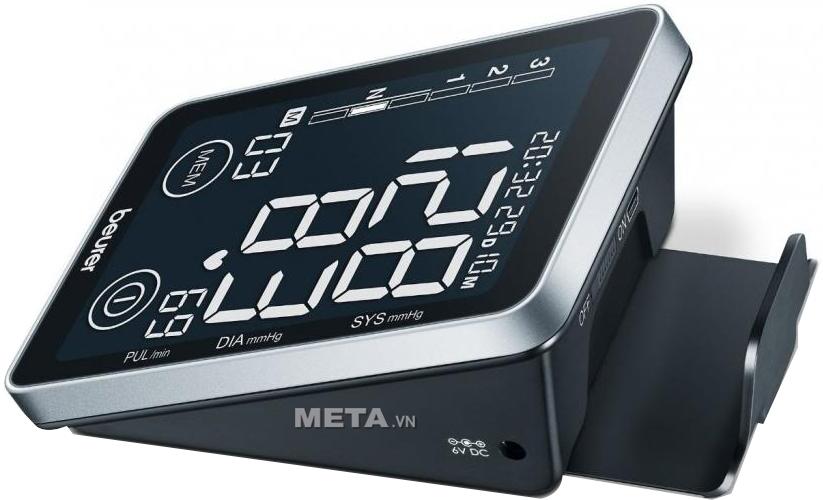 Máy đo huyết áp bắp tay Beurer BM-58 được trang bị cổng adapter nên có thể kết nối với nguồn điện gia đình để sử dụng.