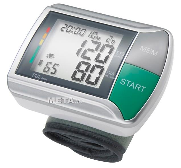 Máy đo huyết áp cổ tay HGN thiết kế 2 nút bấm duy nhất nên rất dễ sử dụng.