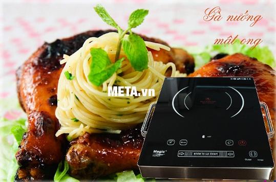 Bếp hồng ngoại Magic A38 new dùng nướng thực phẩm, nấu lẩu hay nấu cơm canh hằng ngày.