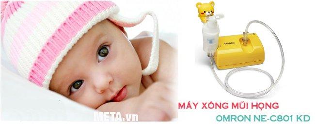 Máy xông mũi họng nén khí NE-C801KD sử dụng an toàn cho trẻ nhỏ