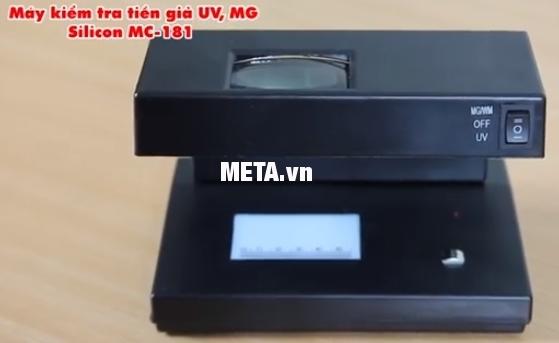 Máy kiểm tra tiền giả UV, MG Silicon MC-181 dễ dàng tắt mở máy nhờ thiết kế nút nguồn phía trước.