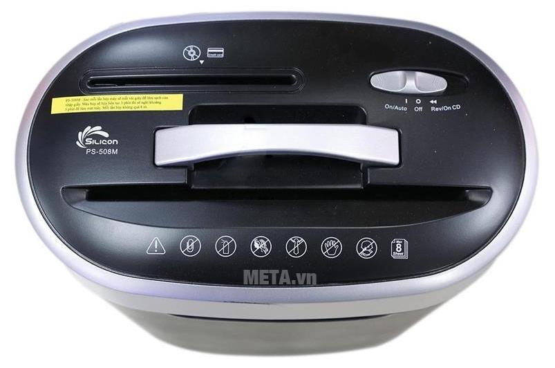 Bản điều khiển máy hủy tài liệu Silicon PS-508M thân thiện và dễ sử dụng