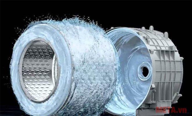 Máy giặt cửa trước 8.5kg Hitachi BD-W85TSP tự động vệ sinh lồng giặt.