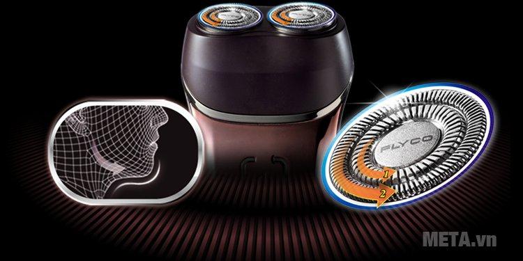 Máy cạo râu Flyco Flyco FS 360 thiết kế tiện dụng