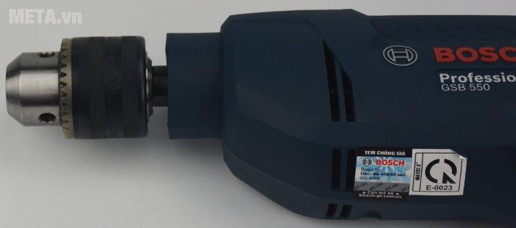 Máy khoan động lực Bosch GSB 550 RE có công suất hoạt động mạnh mẽ