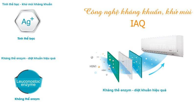 Điều hòa 2 chiều Inverter 22000 BTU Toshiba H22S3KV-V có công nghệ kháng khuẩn, khử mùi hiệu quả