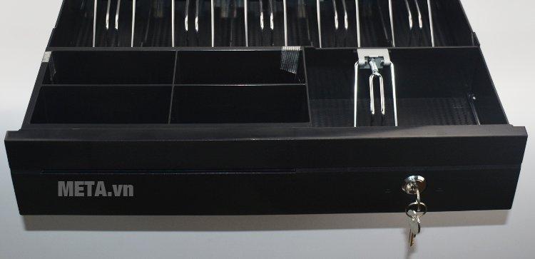 Ngăn kéo đựng tiền JY405 có thể mở bằng khóa hoặc bằng lệnh thông minh