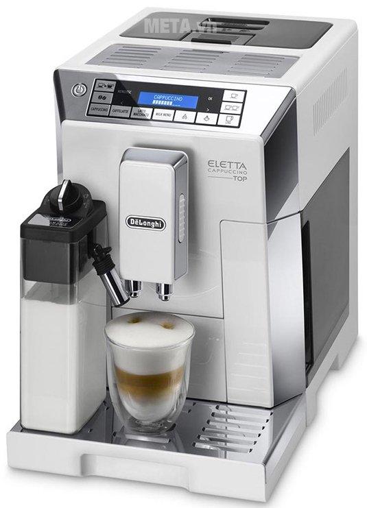 Máy pha cà phê tự động DeLonghi ECAM 45.760.W có thiết kế tiện lợi