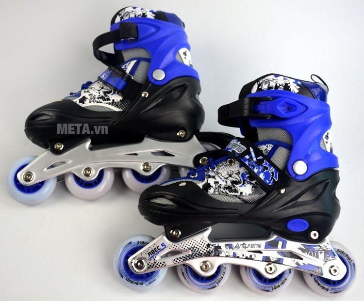 Giầy trượt Patin Long Feng 906 màu xanh dương nổi bật