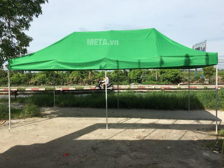 Nhà bạt di động 3m x 6m màu xanh lá