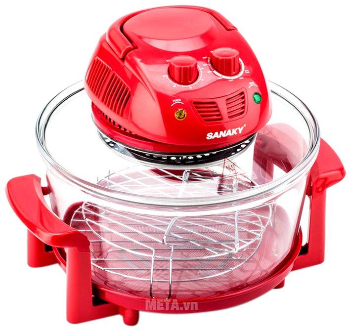 Lò nướng thủy tinh Sanaky VH 148T/D màu đỏ