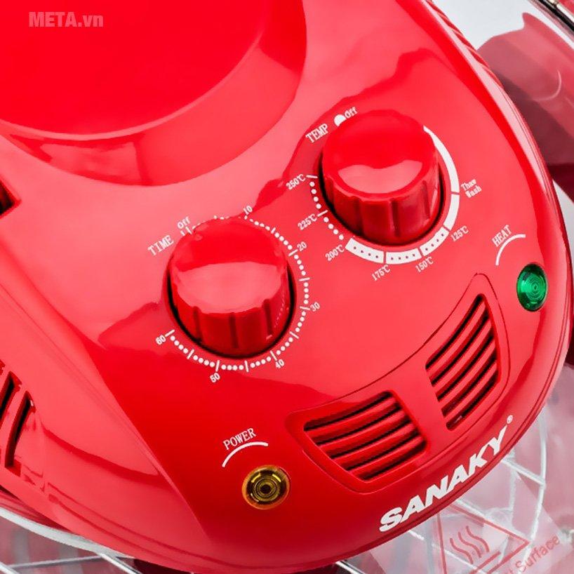 Lò nướng thủy tinh Sanaky VH 148T/D dễ sử dụng với núm vặn
