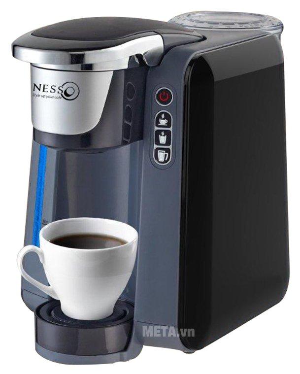 Máy pha cà phê viên nén Nessco K-cup có thể pha tối đa 50 viên/ngày.