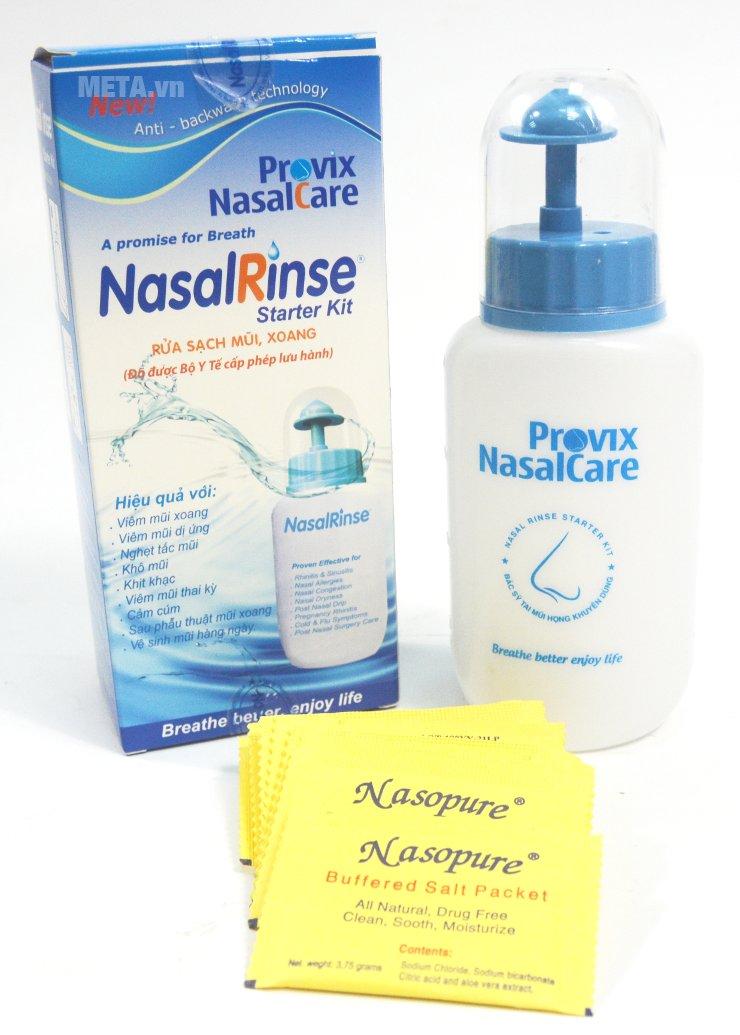 Bình rửa mũi Nasal Rinse dành cho người lớn tạo ra dòng chảy lớn, giúp rửa sạch mũi hơn.