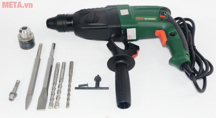Máy khoan bê tông FEG 2606SRE có dụng cụ mở đầu cặp