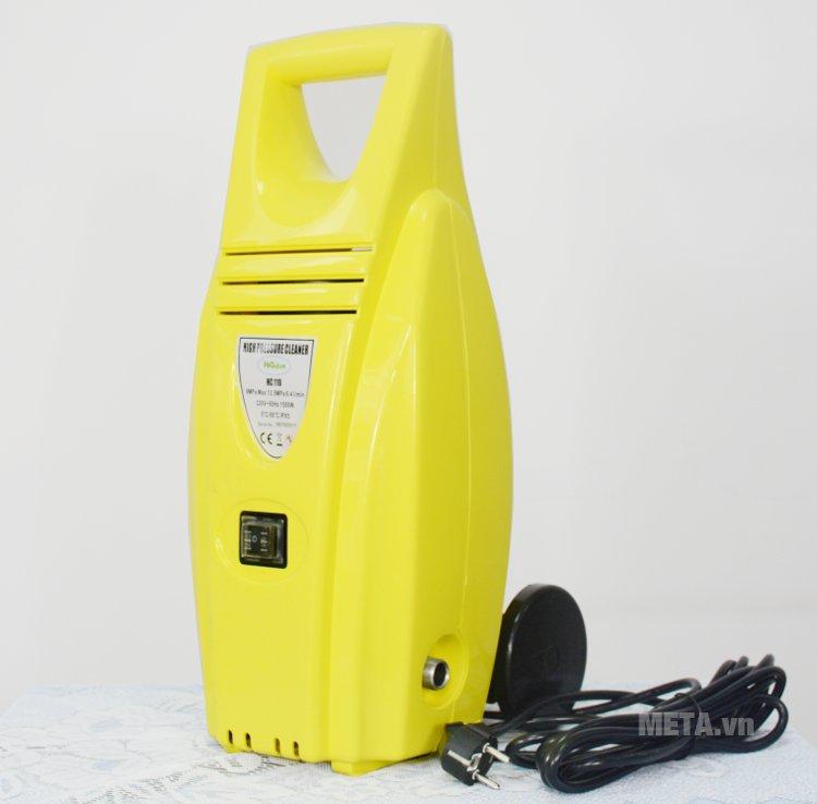 Máy rửa xe cao áp HiClean HC 110 có màu vàng tươi sáng