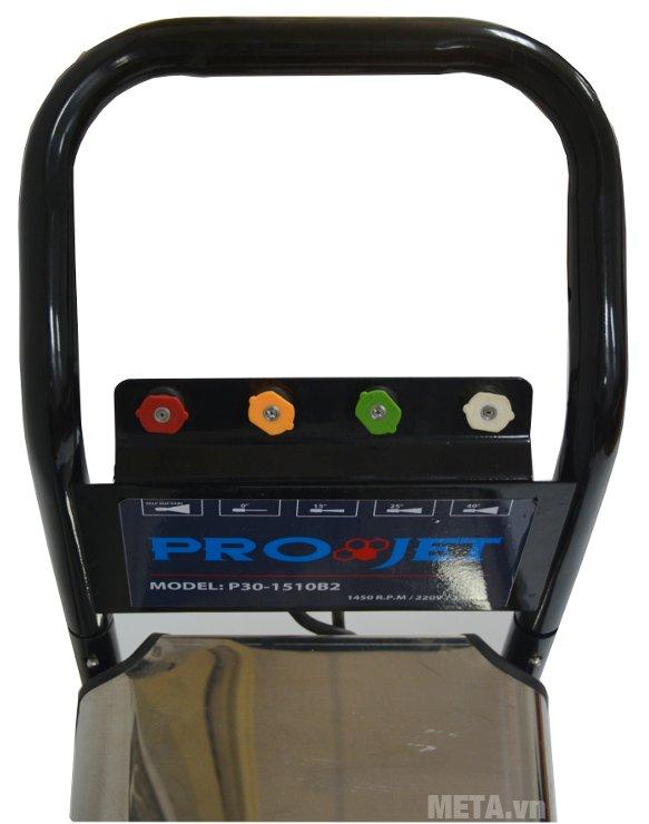 Máy rửa xe cao áp Projet P30-1510B2 có 4 béc phun đi kèm