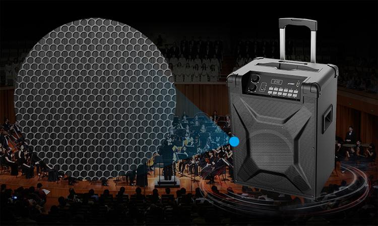 Loa có các rãnh lưới thoát âm, cho âm thanh chuẩn mực như trong nhà hát