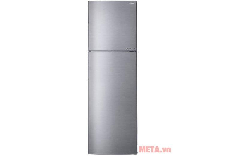 Tủ lạnh J-TECH INVERTER SJ-X251E-SL với thiết kế màu bạc sang trọng