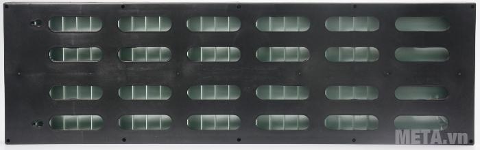 Hình ảnh mặt sau của kệ chứa thẻ giấy, có thể bắt vít để treo tường