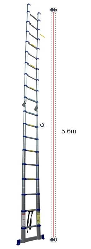 Chiều cao khi duỗi thẳng chữ I của thang nhôm rút gọn Advindeq ADT709B