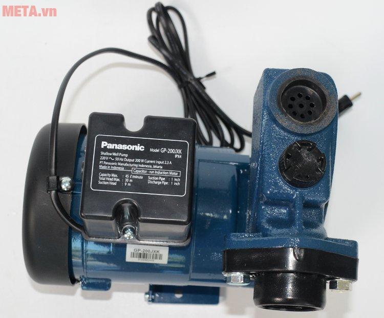 Máy bơm nước Panasonic 200W GP-200JXK in thông số trên thân máy