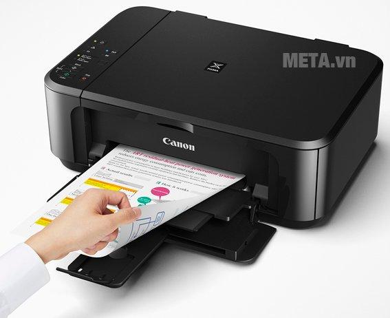 Máy in phun màu đa chức năng Pixma MG3670 có khả năng in, copy, scan khổ A4 dễ dàng