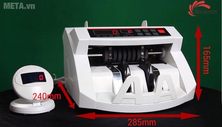 Kích thước của máy đếm tiền thế hệ mới Silicon MC-2200