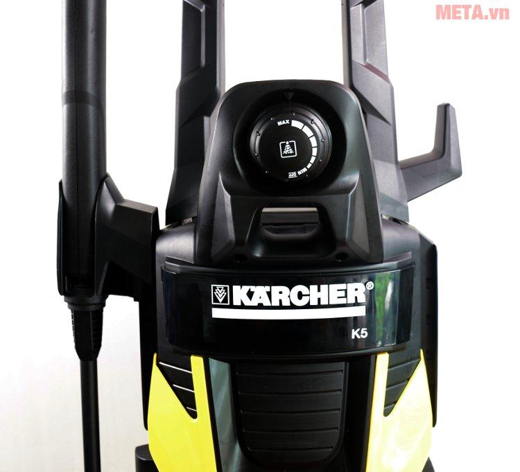Máy phun áp lực cao Karcher K5 EU có van điều chỉnh lượng chất tẩy rửa