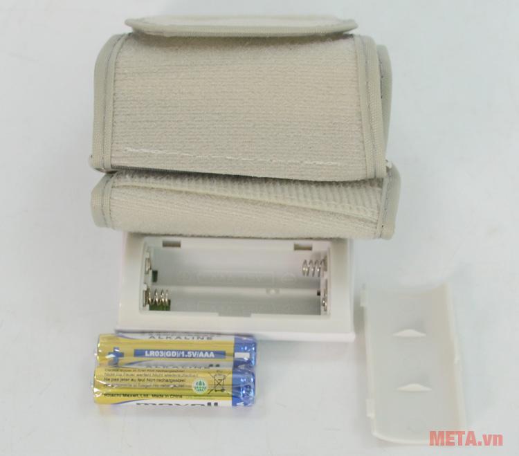 Microlife BP W2-Slim-Wrist sử dụng 2 pin 1.5V AAA