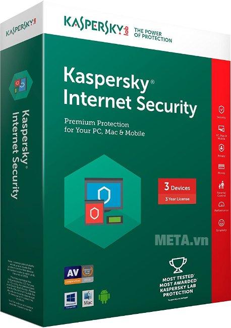 Kaspersky Internet Security 2016 - 3 máy/năm là bản mới và là chương trình ngăn chặn virus