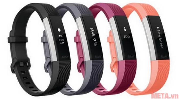 Vòng tay theo dõi sức khỏe Fitbit Alta HR có 4 màu để bạn lựa chọn