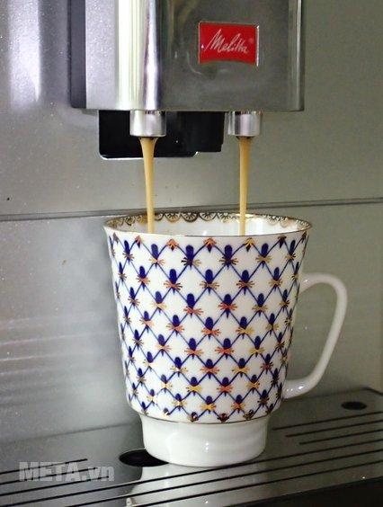 Máy pha cà phê Melitta Caffeo Passione OT có 2 vòi