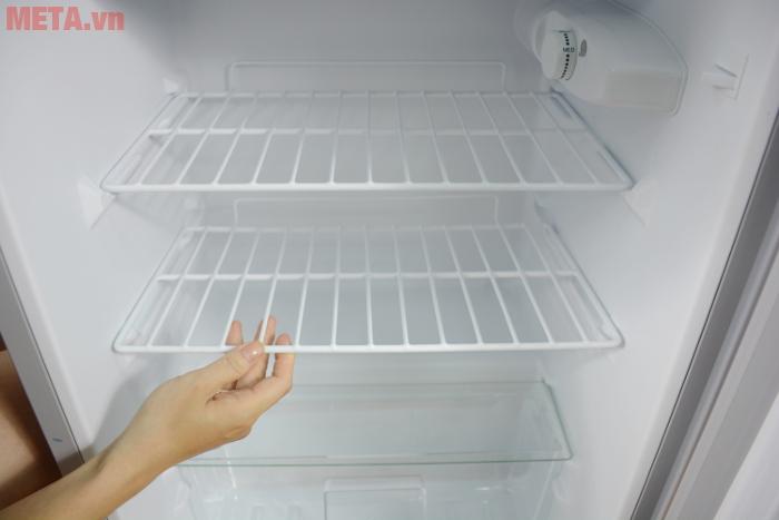 Tủ lạnh mini 98 lít Midea HS-122SN có khay kệ kéo ra, vào dễ dàng