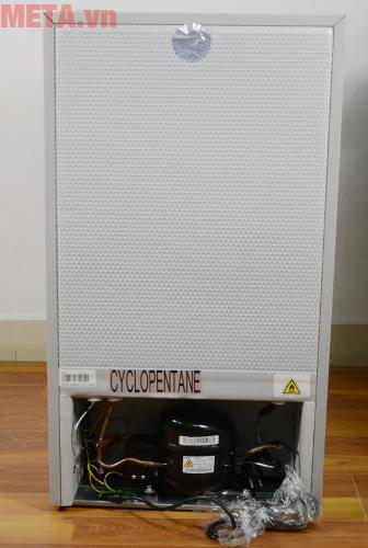 Mặt sau của tủ lạnh mini 98 lít Midea HS-122SN