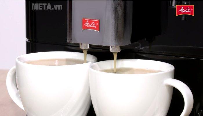 Máy pha cà phê Melitta Caffeo Passione có 2 vòi chảy