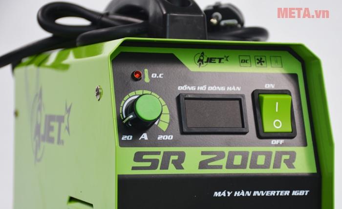 Công tắc và hệ thống điều chỉnh, máy có hiển thị đồng hồ dòng hàn