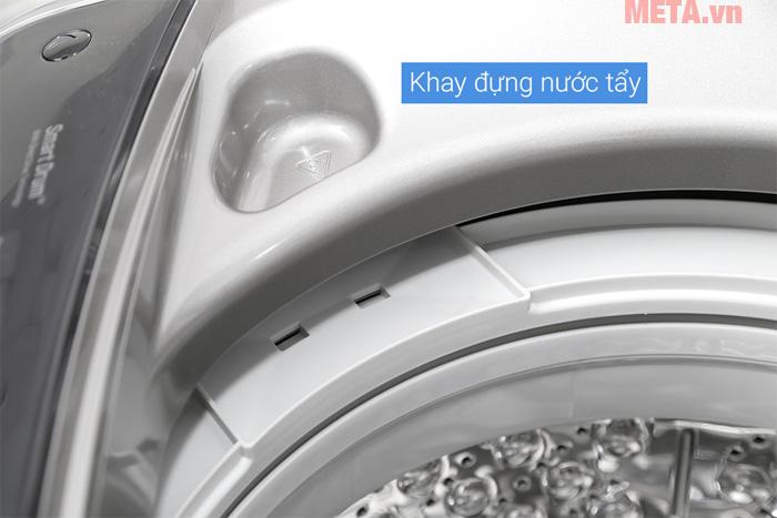 Máy giặt có phần đổ bột giặt và nước xả vải riêng biệt