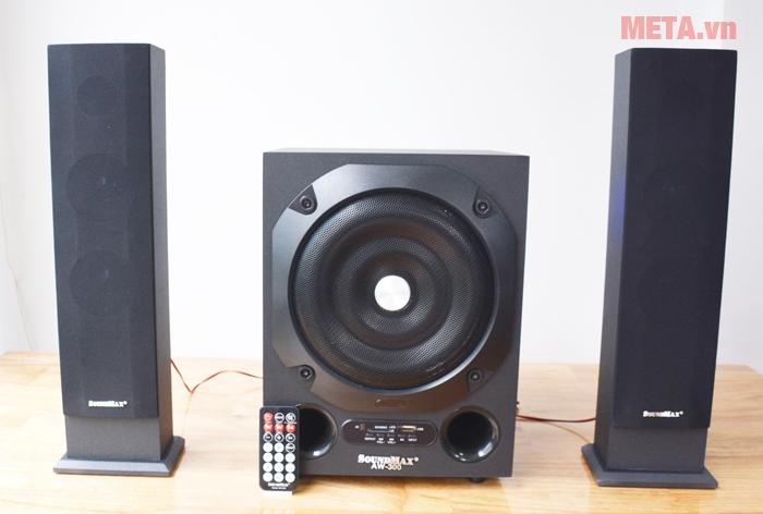 Loa máy tính Soundmax AW 300 là hệ thống kênh 2.1