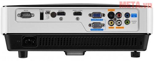BenQ MX631ST cổng kết nối tín hiệu: 2VGA, VIDEO, S-VIDEO, USB 2.0, HDMI (MHL)