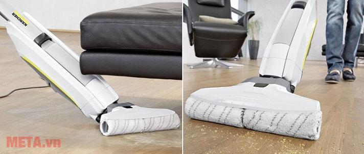 Máy lau sàn 2 trong 1 Karcher FC 5 lau trên sàn gạch cực kỳ đơn giản