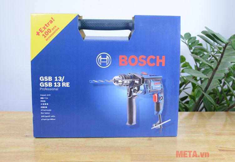 Hộp đựng bộ máy khoan Bosch GSB 13 RE