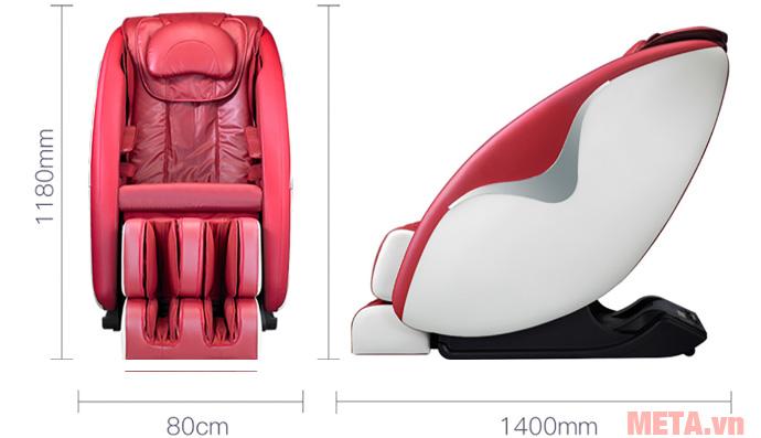 Kích thước của ghế massage Okasa OS-368