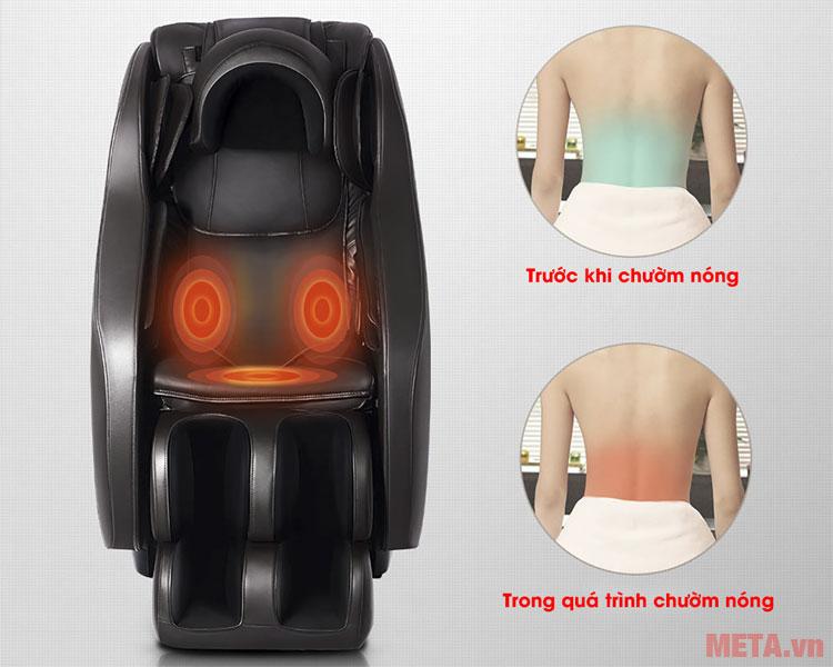 Ghế sẽ điều chỉnh vùng lưng tự động khi bạn sử dụng