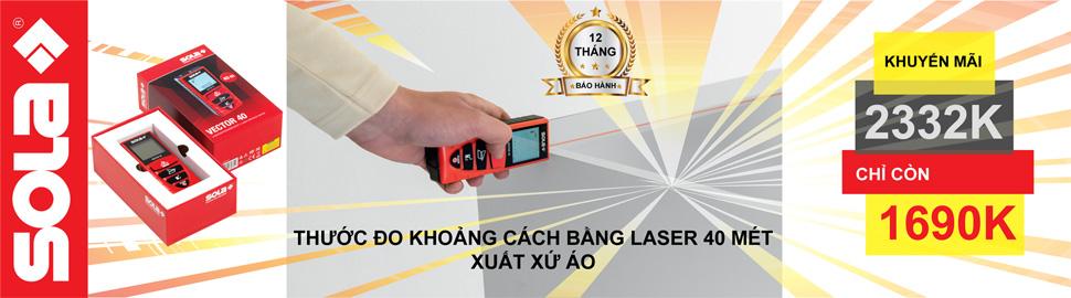 May do khoang cach Laser Sola Vector 40 gia chi 1 690 000 VND