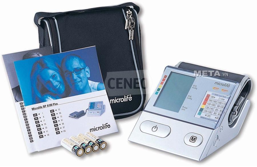 Máy đo huyết áp bắp tay Microlife BP A100 Plus đo huyết áp với độ chính xác cao.
