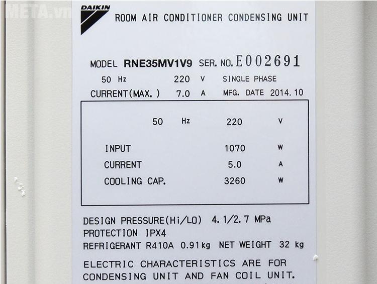 Điều hòa Daikin 1 chiều 12000BTU FTNE35MV1V9/RNE35MV1V làm lạnh nhanh chóng.