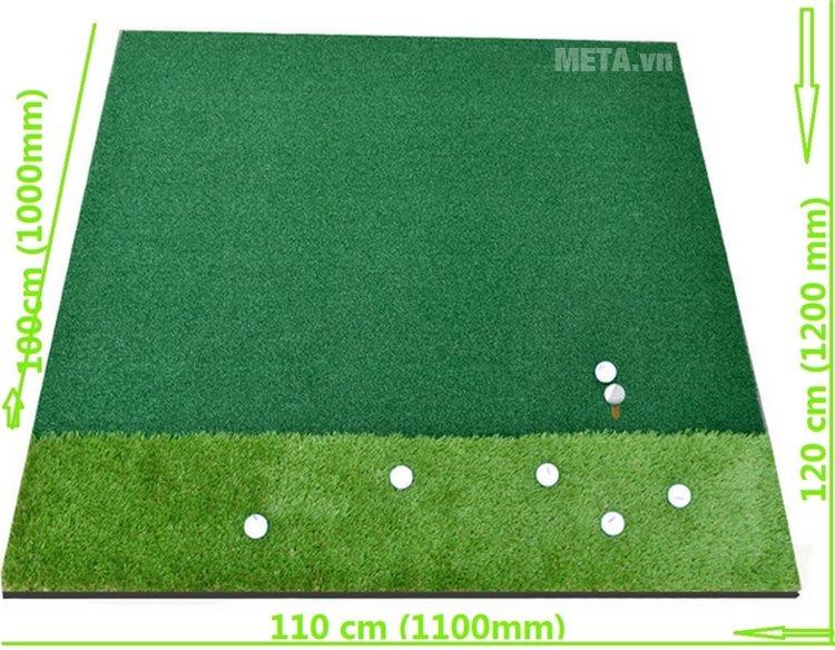 Kích thước của thảm tập Golf VanDat Swing 110cm x 120cm